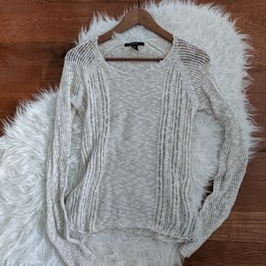 Tahari cotton linen blend knit sweater